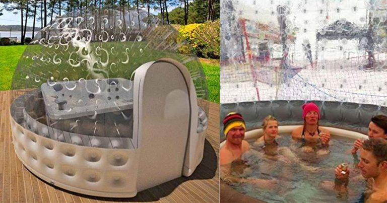 Keep Your Bills Low With This Inflatable Hot Tub Solar Dome