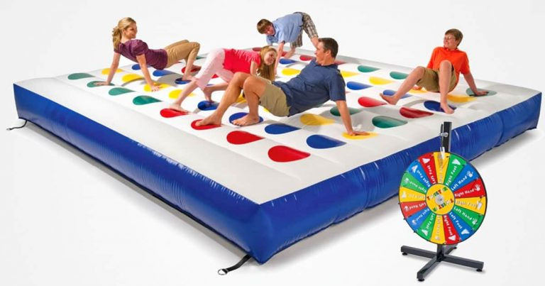 You Need This Inflatable Outdoor Color Dot Game AKA Twister In Your Life