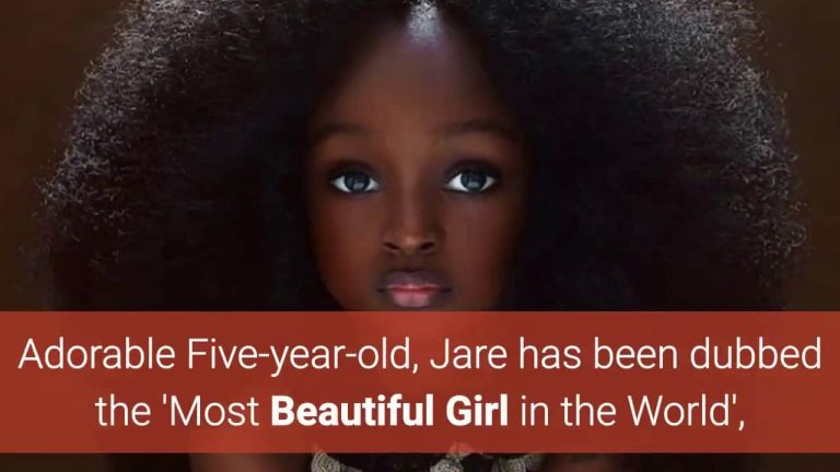 5-year-old Resembled to Living Doll in Nigeria, Most Beautiful in the World
