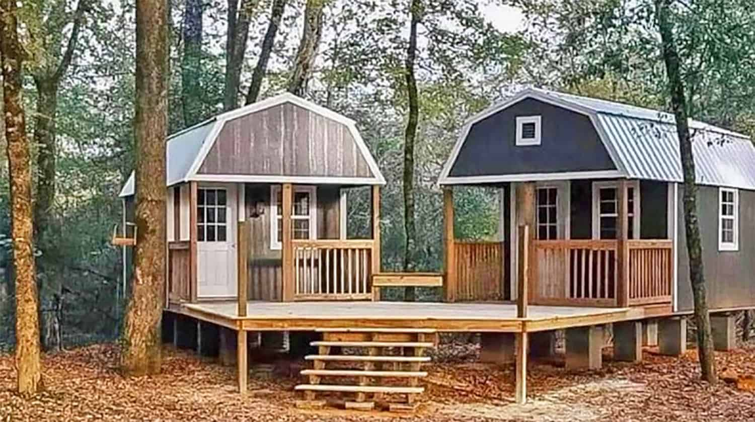 a dual shed for him and her