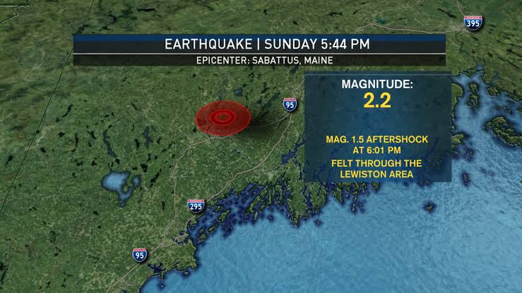 Earthquake Felt In Rhode Island, New Hampshire, Connecticut And Massachusetts Coast.